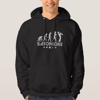 Retro Saxophone Evolution Hoodie