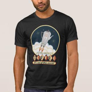 Retro sci-fi coffee pot rocket space ship T-Shirt