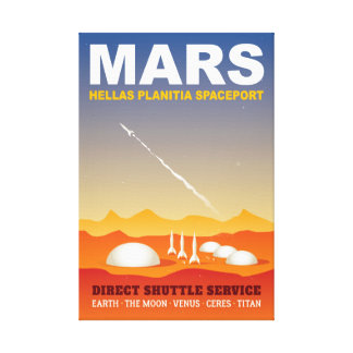 Retro Sci-Fi Mars Space Tourism Canvas Print