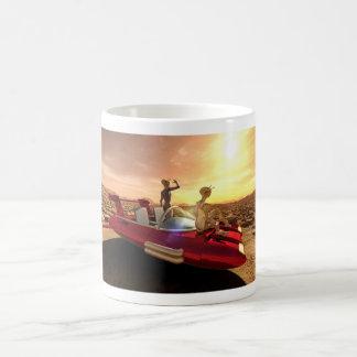 Retro Sci-Fi Sunset on Mars Coffee Mug
