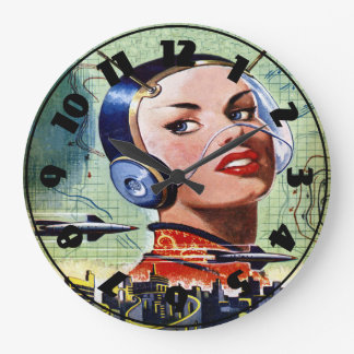 Retro Science Fiction Clock