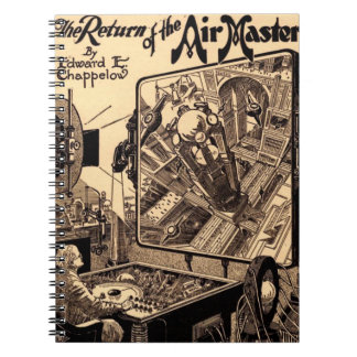 Retro Science Fiction Return of the Air Master Notebook