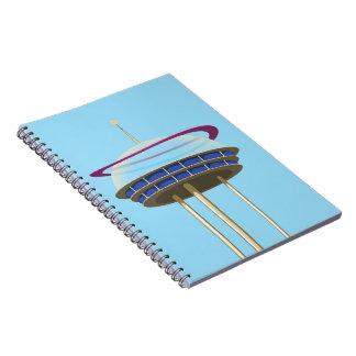 Retro Science fiction skyscraper Notebook