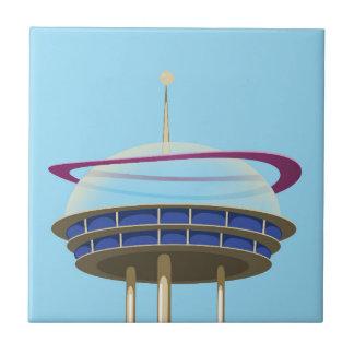 Retro Science fiction skyscraper Tile