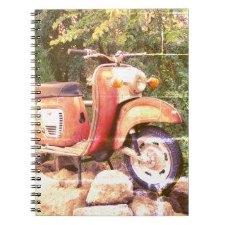 Retro scooter photo Notebook