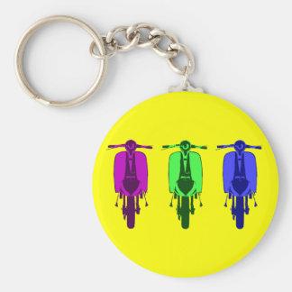 Retro Scooter Pop art version Basic Round Button Keychain
