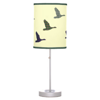Retro Scottish Flying Tartan Ducks Table Lamp