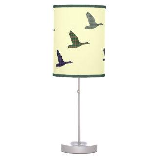 Retro Scottish Flying Tartan Ducks Table Lamp