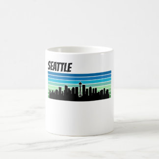 Retro Seattle Skyline Coffee Mug