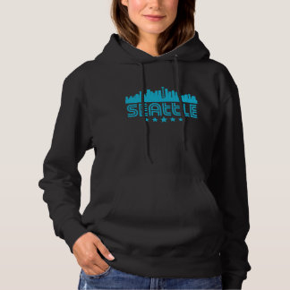 Retro Seattle Skyline Hoodie