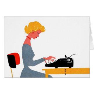 Retro Secretary, Administrative Professional Day Card