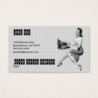 Retro Secretary B/W Business Card