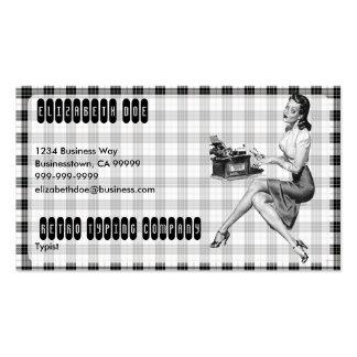 Retro Secretary V3 Business Card Template