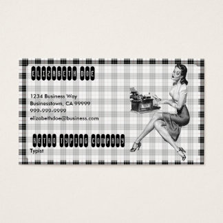 Retro Secretary V3 Business Card