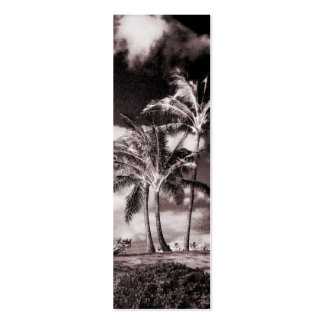 Retro Sepia Hawaiian Palm Trees Customized Palms Mini Business Card