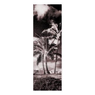 Retro Sepia Hawaiian Palm Trees Customized Palms Pack Of Skinny Business Cards