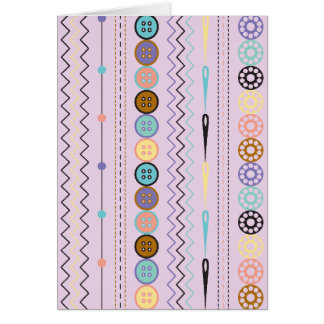 Retro Sewing Stripe Card