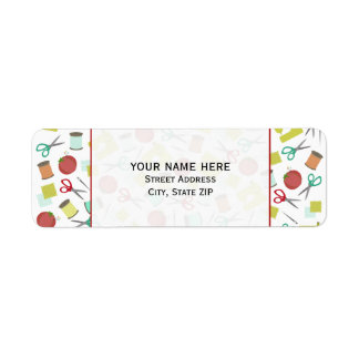 Retro Sewing Themed Address Label