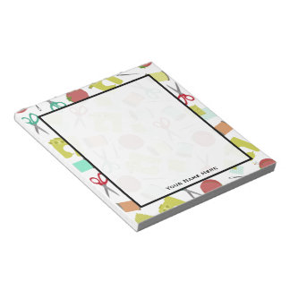 Retro Sewing Themed Notepad