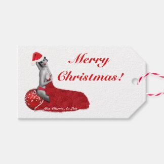 Retro Sexy Pinup Girl Art Christmas Gift Tags M!