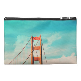 Retro SF Golden Gate Bridge Zippered Pouch
