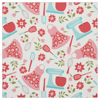 Retro Shabby Chic Kitchen Fabric