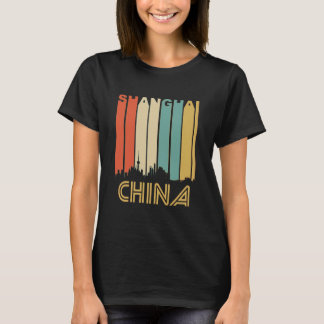 Retro Shanghai Skyline T-Shirt