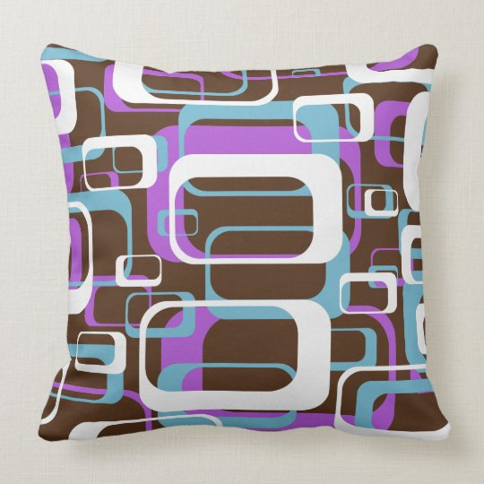 retro shapes throw pillow