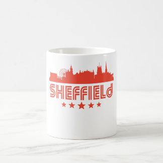 Retro Sheffield Skyline Coffee Mug