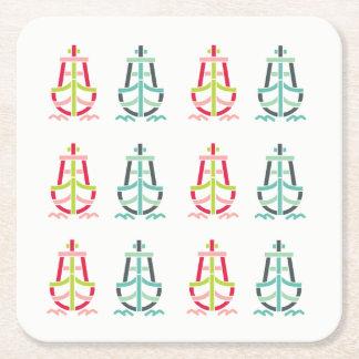 Retro_Ship_Logo-CL11-CL21 Square Paper Coaster