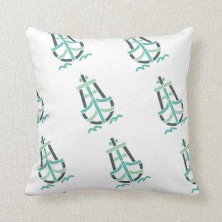 Retro_Ship_Logo-CL11 Throw Pillow