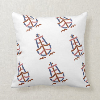 Retro_Ship_Logo-CL23 Throw Pillow