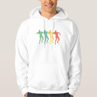 Retro Shot Put Pop Art Hoodie