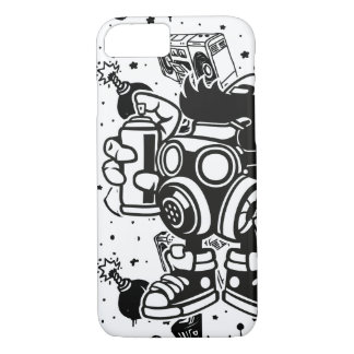 """Retro """"Sick and Spazzy"""" Apple iPhone 8/7 Case"""