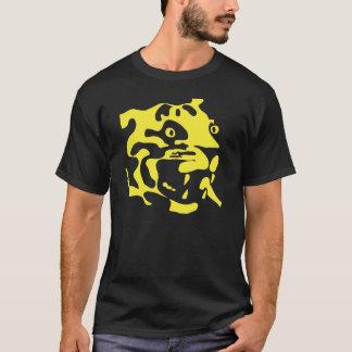 Rétro silhouette de visage de tigre de deco t-shirt