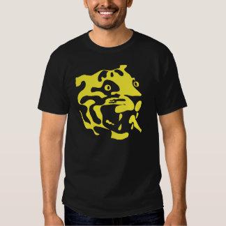 Rétro silhouette de visage de tigre de deco t-shirts
