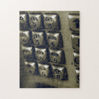Retro Silver Telephone Buttons Jigsaw Puzzle