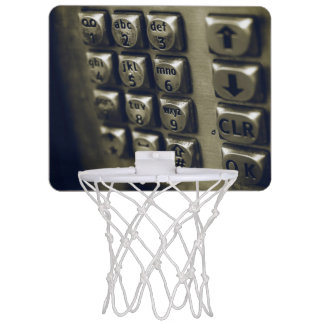 Retro Silver Telephone Buttons Mini Basketball Hoop