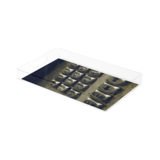 Retro Silver Telephone Buttons Serving Tray