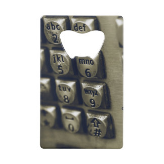 Retro Silver Telephone Buttons Wallet Bottle Opener