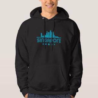 Retro Singapore Skyline Hoodie