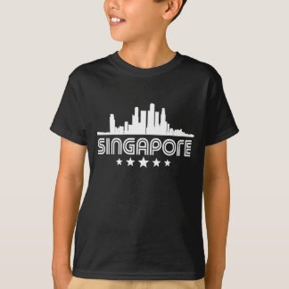 Retro Singapore Skyline T-Shirt