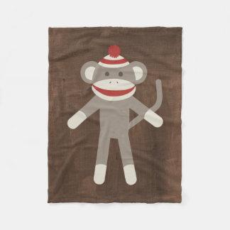 Rétro singe de chaussette couverture polaire