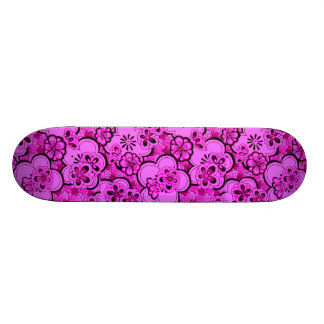 Retro Sissy Pink Flower Girly Skateboard