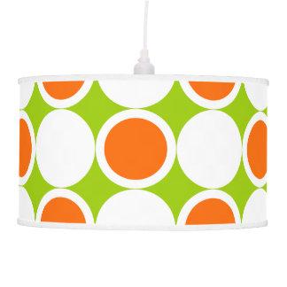 Retro sixties orange white green pendant lamp