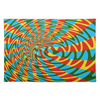 Retro Sixties Psychedelic Design Place Mat