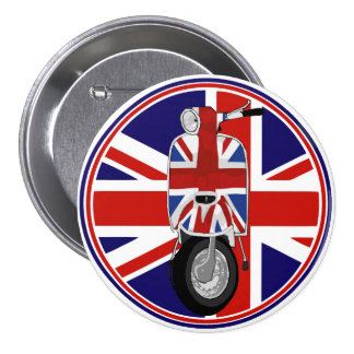 Retro Sixties Scooter with UJ decal 3 Inch Round Button