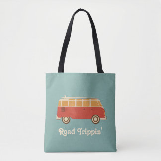 Retro Sixties Van Road Trip Tote Bag