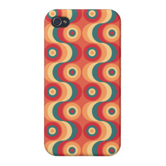 Retro Sixties wallpaper pattern scarlet iPhone 4 Cover