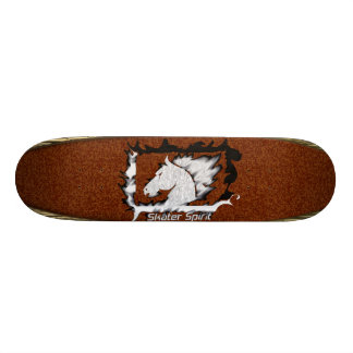 #Retro Skate with wood sample+Bordeaux color Custom Skate Board